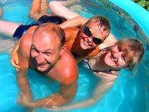Amusement de famille d'été Photographie stock libre de droits