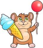 Amusement de hamster en vacances illustration libre de droits