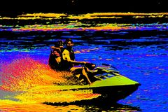 Amusement de Jetski Photo stock