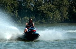 Amusement de Jetski Photographie stock libre de droits