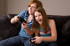 Amusement de jeu vidéo Images libres de droits