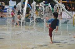 Amusement de l'eau en été Images libres de droits