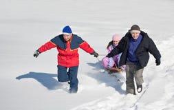 Amusement de l'hiver Photos libres de droits