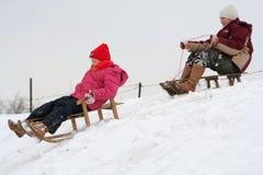 Amusement de l'hiver images libres de droits
