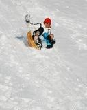 Amusement de l'hiver Photo libre de droits