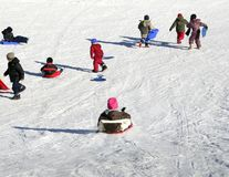 Amusement de l'hiver Photo libre de droits
