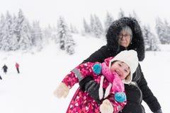 Amusement de l'hiver Photographie stock