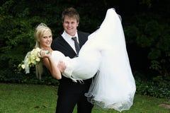 Amusement de mariée et de marié images stock