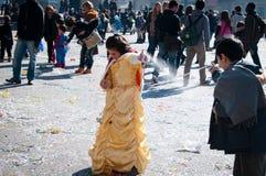 Amusement de mousse pour le carnaval Photo stock
