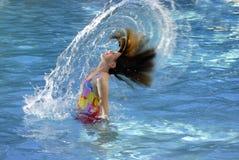 Amusement de natation d'été images libres de droits