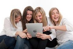 Amusement de PC de Tablette Images libres de droits
