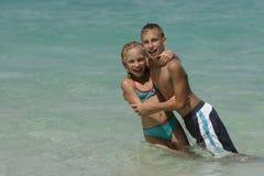 amusement de plage Image stock