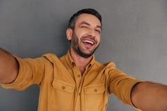 Amusement de Selfie photos stock