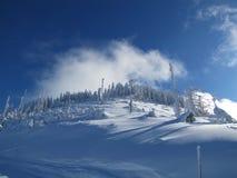 Amusement de ski dans des Alpes de Français de montagnes Images stock