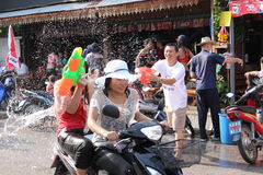 Amusement de Songkran Photographie stock libre de droits