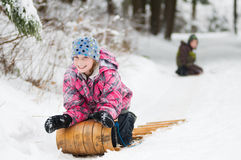 Amusement de Tobogganing Images stock