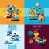 Amusement Design Concept Set Stock Photography