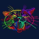 Amusement, dessins artistiques de chiffres de chat de bande dessinée Études originales illustration de vecteur