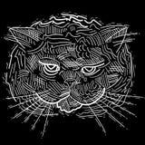 Amusement, dessins artistiques de chiffres de chat de bande dessinée Études originales illustration libre de droits