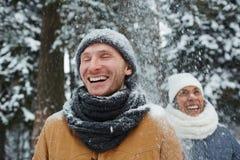 Amusement en chutes de neige Photo libre de droits