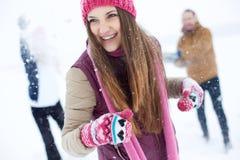 Amusement en hiver Images libres de droits