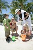 Amusement en sable Photographie stock libre de droits