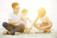 Amusement extérieur de famille Images stock
