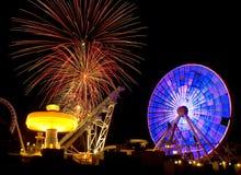 amusement fireworks ride Στοκ φωτογραφίες με δικαίωμα ελεύθερης χρήσης