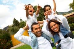 Amusement heureux de famille Image libre de droits