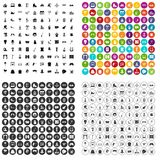 100 amusement icons set vector variant. 100 amusement icons set vector in 4 variant for any web design isolated on white Stock Image