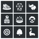 Amusement icons. Vector Illustration. Royalty Free Stock Photo