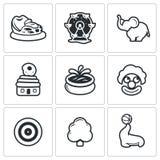 Amusement icons. Vector Illustration. Stock Photo