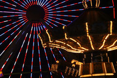 Amusement In Lights Stock Photos