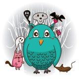 Amusement mignon de Halloween illustration libre de droits
