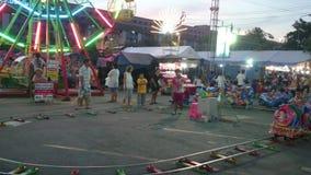 Amusement night in Bangkok stock video footage