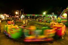 Amusement in  night Stock Image