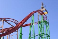 Amusement Parc avec le rouleau-coster Photos libres de droits