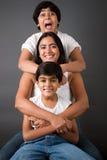Amusement parfait de famille Photographie stock libre de droits