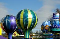 Amusement Park. A unique view of an Amusement Park Stock Photo