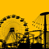 Amusement park. Background with room for text stock illustration