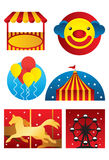 Amusement Park. An illustration of six items from amusement park royalty free illustration