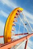 Amusement park. People at an amusement park Stock Images