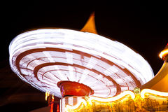 Amusement park. Light at night Royalty Free Stock Images