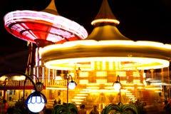 Amusement park. Light at night Royalty Free Stock Image