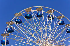 Amusement park. Magic park with a ferris wheel Royalty Free Stock Photography