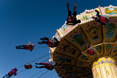 Amusement park. Dom in hamburg Stock Photo