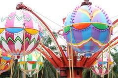 Amusement park as a balloon. Royalty Free Stock Photo