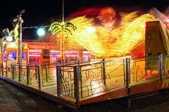 Amusement park attraction at night Royalty Free Stock Photos