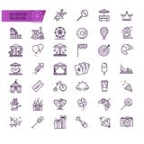 Amusement park, attraction vector icons. For your design Stock Photography