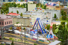 Amusement park and attractions. Ferris Wheel Royalty Free Stock Image